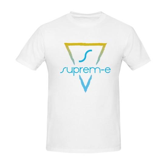 Suprem-e T-shirt bianca logo colorato