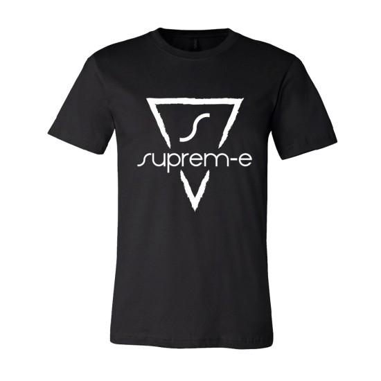 Suprem-e T-shirt nera logo bianco
